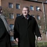 Statsminister Lars Løkke Rasmussen på besøg i Mjølnerparken i anledningen af regeringens præsentation af en ny ghettopakke.