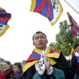Demonstration mod Kinas menneskerettighedsovertrædelser over for Tibet, Free Tibet, på Højbro Plads i København fredag d. 15. juni 2012 i forbindelse med den kinesiske præsident Hu Jintaos statsbesøg i Danmark.