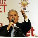 Arkivfoto af den tyrkiske premiereminister, Binali Yildirim, der truer hollænderne med gengældelse efter, at flere tyrkiske ministre er nægtet adgang til Holland.