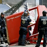 ARKIVFOTO: Politiet under en rydning af Christiania sidste år.