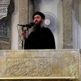 Al-Baghdadi på et af de få kendte fotos af ham.