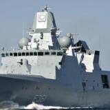 De danske fregatter skal udstyres med udstyr til missilforsvar. Arkivfoto: Scanpix