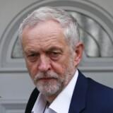 Labour-lederen Jeremy Corbyn beskyldes for ikke at have kæmpet hårdt nok i valgkampen for at sikre et ja til fortsat britisk EU-medlemskab. Reuters/Neil Hall