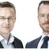Jacob Jensen, finansordfører (V) og Jakob Ellemann-Jensen, politisk ordfører (V).