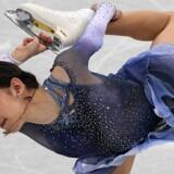 18-årige Evgenia Medvedeva fik søndag i kunstskøjteløbernes korte program den bedste bedømmelse, der nogensinde er givet. Scanpix/Roberto Schmidt