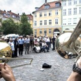Orion Brass Band under Copenhagen Jazz Festival 2006 på Gråbrødre Torv.