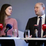 Justitsminister Søren Pape Poulsen (K) og børne- og socialminister Mai Mercado (K) præsenterer på et pressemøde i Justitsministeriet regeringens nye udspil om indsatsen mod ungdomskriminalitet.