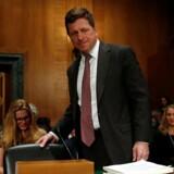 Direktøren for det amerikanske finanstilsyn, Jay Clayton, har cyberkriminalitet som en af sine topprioriteter - men har nu selv haft ubudne gæster. Arkivfoto: Jonathan Ernst, Reuters/Scanpix