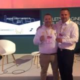 Iværksættervirksomheden Duuoo vandt sidste weekend en europæisk pris for innovation og ny teknologi i Paris.Medstifter og CEO Dennis Green-Lieber (t.v.), og Magnus Stawicki Blak, Head of Sales/Business Psychologist (t.h.).