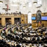 Folketingets åbning tirsdag d. 7. oktober 2014. Folketingssalen under Statsminister Helle Thorning-Schmidts tale. (Foto: Thomas Lekfeldt/Scanpix 2014)