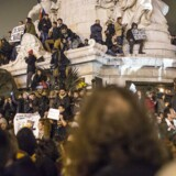Tusindvis af franskmænd var samlet ved Place de la République i Paris på dagen, hvor satiremagasinet Charlie Hebdo blev udsat for terror, og 12 personer mistede livet.