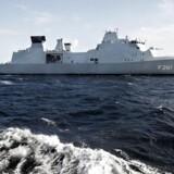 Fregatten Iver Huitfeldt er en af tre af Søværnets tre fregatter, men kun to af dem er fuldt bemandet og kan derfor operere som krigsskib.