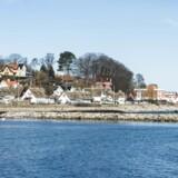 Strandvejen i Helsingør med udsigt til Kronborg slottet. Fredag den 13. marts 2015.