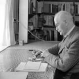 Den norske forfatter Knut Hamsun. Arkivfoto