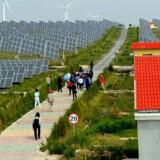 En større og større del af verdens energiforbrug vil blive dækket af sol og vind fremover. I Tyskland skal man f.eks. udfase atomkraft, og andre lande kigge efter alternativer til olie- og gasproduktion. Foto: Lilian Wu/AFP