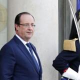 Frankrigs præsident, François Hollande, rejste de nye afsløringer af amerikansk overvågning med USAs Barack Obama. Foto: Yoan Valat, EPA/Scanpix
