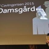 Det var en rørt Puk Damsgaard der modtog Cavlingprisen 2015.