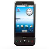 Her er den så - den første mobiltelefon med Googles styresystem Android, G1, der sælges af T-Mobile, ejet af Europas største teleselskab, Deutsche Telekom.
