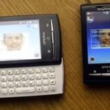 Sony Ericsson ramte helt rigtigt, da X10 Mini-telefonen - med og uden udskydeligt tastatur - i februar i år blev lanceret på mobilmessen Mobile World Congress i Barcelona, Spanien. Foto: Albert Gea, Reuters/Scanpix