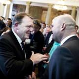 De Konservatives 100 års jubilæum på Christiansborg. Statsminister Lars Løkke Rasmussen har holdt tale og takkes af Søren Pape Poulsen