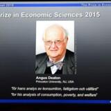 Det bliver den 69-årige Augus Deaton fra det amerikanske Princeton Universitet, som vandt Nobelprisen i økonomi i 2015. Det er et banebrydende arbejde indenfor, hvordan folk forbruger deres penge, økonomisk ulighed, fattigdom og velfærd, at han har lavet opsigtsvækkende forskning.