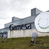 Den spanske vindmølleproducent Gamesa har vundet to ordrer i Kina med en samlet kapacitet på 82 megawatt (MW). (AFP PHOTO / ANDER GILLENEA)