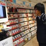 Salget af spil og spiludstyr daler fortsat på verdens største marked. Foto: Dai Kurokawa, EPA/Scanpix