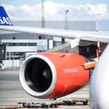 Et SAS-fly i Københavns Lufthavn.