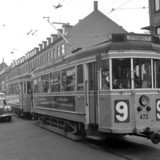 Dyk med ned i billedarkivet og se det gamle Valby.1965. Linie 9 fotograferet i Valby