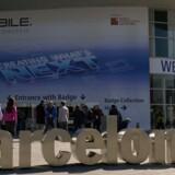 Verdens største mobilmesse, Mobile World Congress, åbner 24. februar i Barcelona i Spanien og varer frem til 27. februar. Den vil afsløre, hvordan styrkeforholdet er i mobilverdenen. Foto: Lluis Gene, AFP/Scanpix