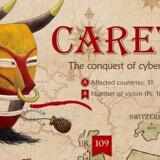 Masken - på spansk: Careto - i IT-sikkerhedsfirmaet Kaspersky Labs grafiske udlægning har hærget i syv år og har ramt flest i Marokko, Brasilien, Storbritannien, Frankrig og Spanien.