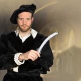 """Bennet Thorpe er Christopher Marlowe i """"Shakespeare's Ghost"""". Var det ham, der skrev det hele? Foto: Thomas Petri."""