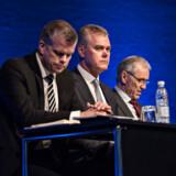 Bo Nilsson, CEO (C) fotograferet onsdag den 22. marts 2017 under Nets ordinær generalforsamling på Tivoli Hotel og Congress Center. (Foto: Ida Guldbæk Arentsen/Scanpix 2017)