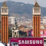 Alle, der er noget inden for mobiltelefoni i hele verden, mødes i den kommende uge i Barcelona i Spanien til verdens største mobilmesse. Her et glimt fra sidste år. Foto: Albert Gea, Reuters/Scanpix