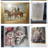 Tysklands toldrevision har fundet ud af, at 315 af kunstværkerne blev taget fra offentlige museer af Hitlers regime som del af en omfattende konfiskering af såkaldt degenereret avantgarde kunst. Her ses et udpluk af naziskatten.