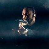Kendrick Lamar på scenen under Coachella Music Festival 2017 tidligere på året.