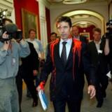 Statsminister Anders Fogh Rasmussen (V) bliver i marts 2003 overfaldet af autonome, der overhælder statsministeren med rød maling.