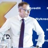 Nykredits topchef Michael Rasmussen fremlægger planerne for koncernes børsnotering, der blev godkendt af repræsentantskabet onsdag aften.