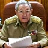 Screenshot fra cubansk TV. Præsident Raul Castro holdt tale til nationen onsdag den 17., hvor det blev klart, at fjendskabet mellem USA og Cuba er fortid.