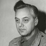 En af Hitlers førende chefideologer, Alfred Rosenberg, venter her i sin celle under krigsforbryderprocessen i Nürnberg i 1945.