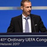 Uefa-præsident Aleksander Ceferin kan sidde på posten i maksimalt 12 år. Scanpix/Markku Ulander