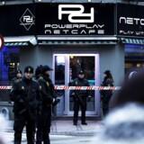 Politiaktion mod netcafeen Powerplay på Nørrebrogade søndag d. 15 februar 2015.
