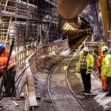 Der er gang i byggeriet nogle steder i landet - her Metroen - men overordnet er der altså pessimisme i byggebranchen. Foto: Bax Lindhardt/Scanpix.