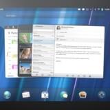 Styresystemet WebOS fik en kort levetid hos HP (her på HPs eneste tavle-PC, TouchPad), som købte det med overtagelsen af Palm. Nu har LG Electronics overtaget WebOS for at bruge det i fjernsyn. Foto: HP