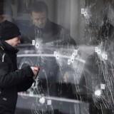 ARKIVFOTO. Kulturhuset Krudttøndens rude, som Omar Abdel Hamid El-Hussein gennemhullede med sin skudsalve under terrorangrebet i København 14. februar, kan ende på Nationalmuseet.
