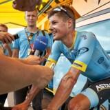 Efter to etaper ligger den 33-årige dansker på 16.-pladsen i klassementet. Han er 16 sekunder efter Peter Sagan (Bora), der er ny mand i gult. (Foto: Claus Bonnerup/Ritzau Scanpix)
