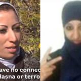 Til venstre: Nabila Bakkatha, der er spillevende. Til højre: Den formodede selvmordsbomber Hasna Ait Boulahcen.