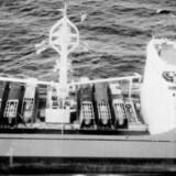 Lasten på dækket ses tydeligt, skrev Dansk Institut for Internationale Studier med henvisning til de påståede raketter.