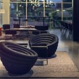 Her et foto fra Moxy-kædens hjemmeside, der viser loungekonceptet i den første hotel i Milano. PR-foto: Moxy
