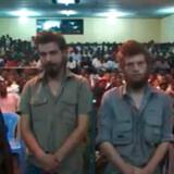 En lokal congolesisk domstol har i dag idømt de to nordmænd Joshua French og Tjostolv Moland for drab og spionage. Billedet er fra VG.no's livedækning af retssagen.